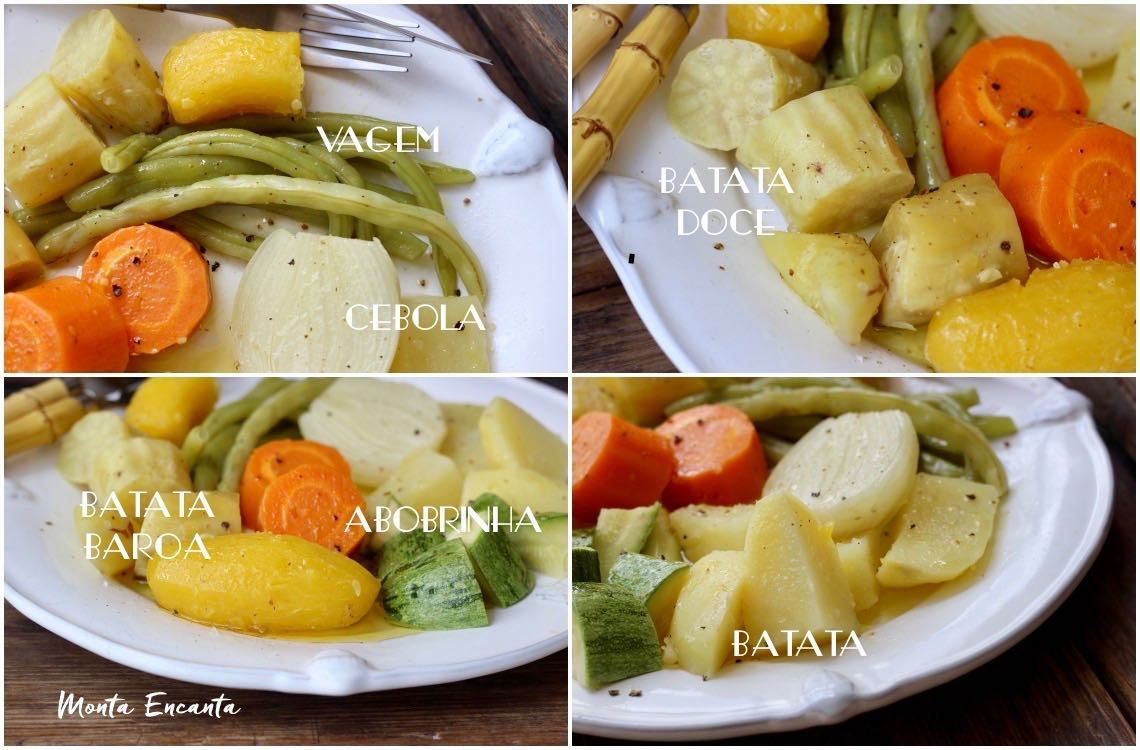 legumes cozido ao vapor