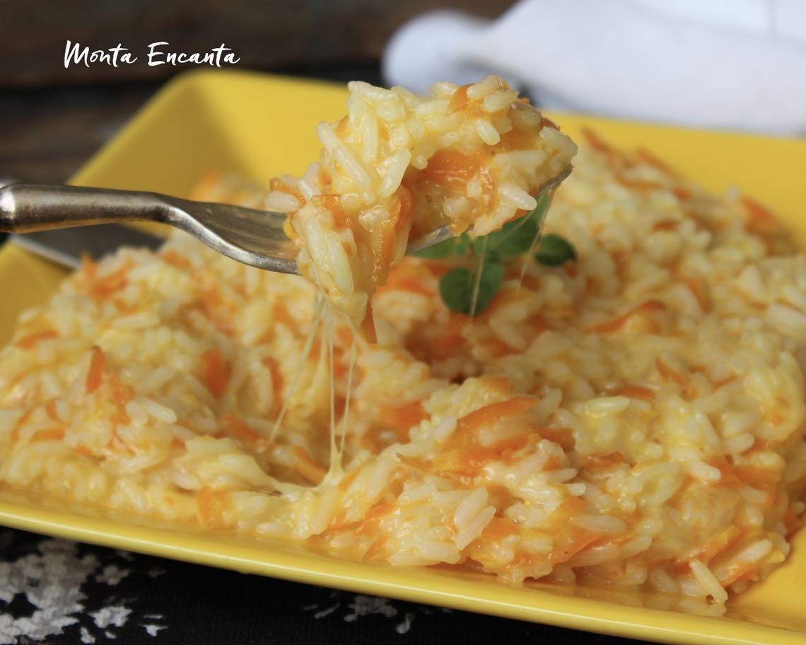 arroz com cenoura e queijo