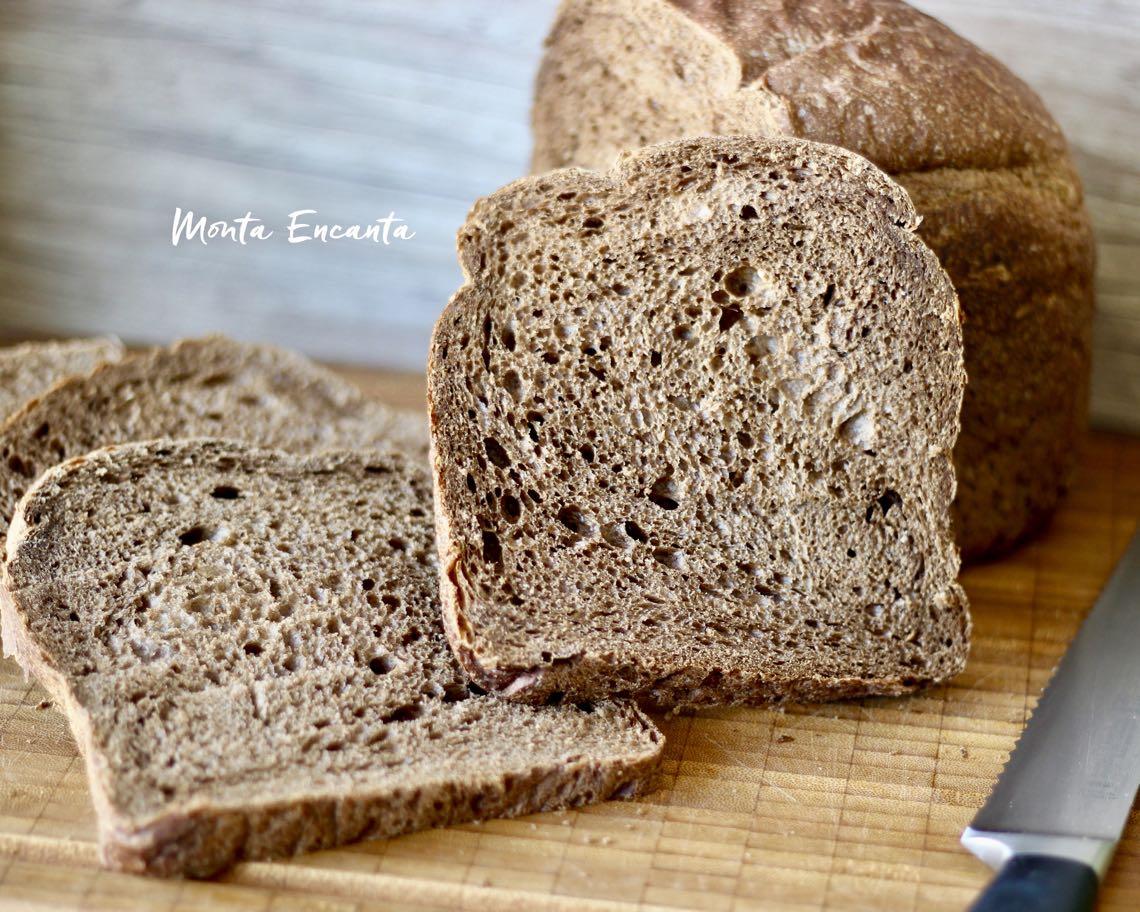 pão com chocolate e mel