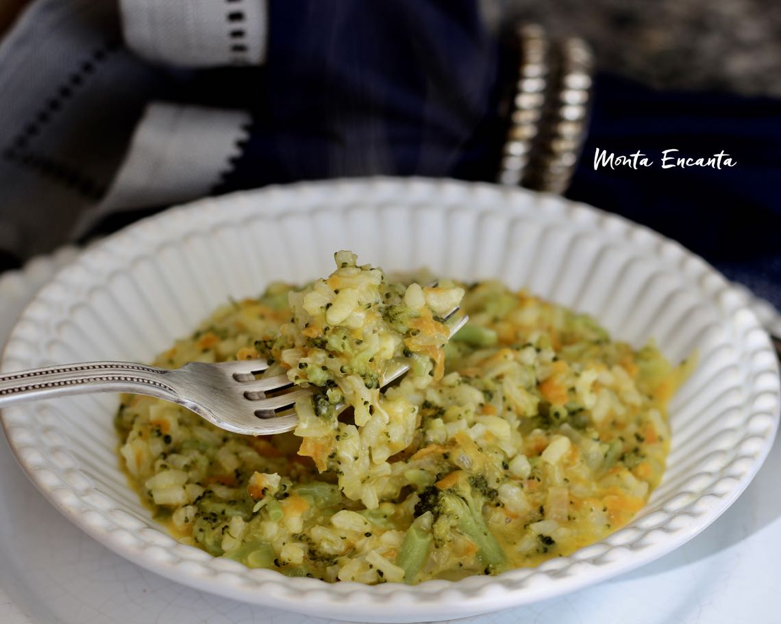 risoto de brócolis e cenoura