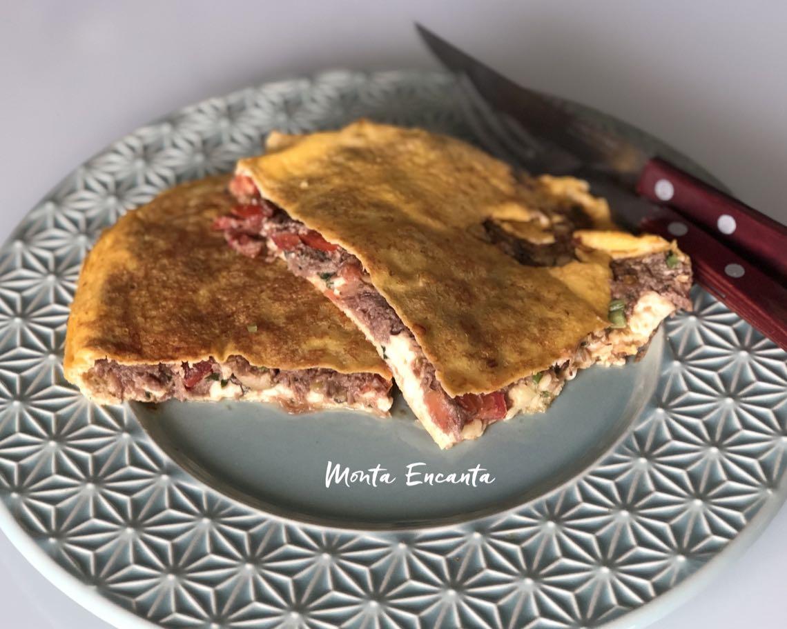 omelete de picanha