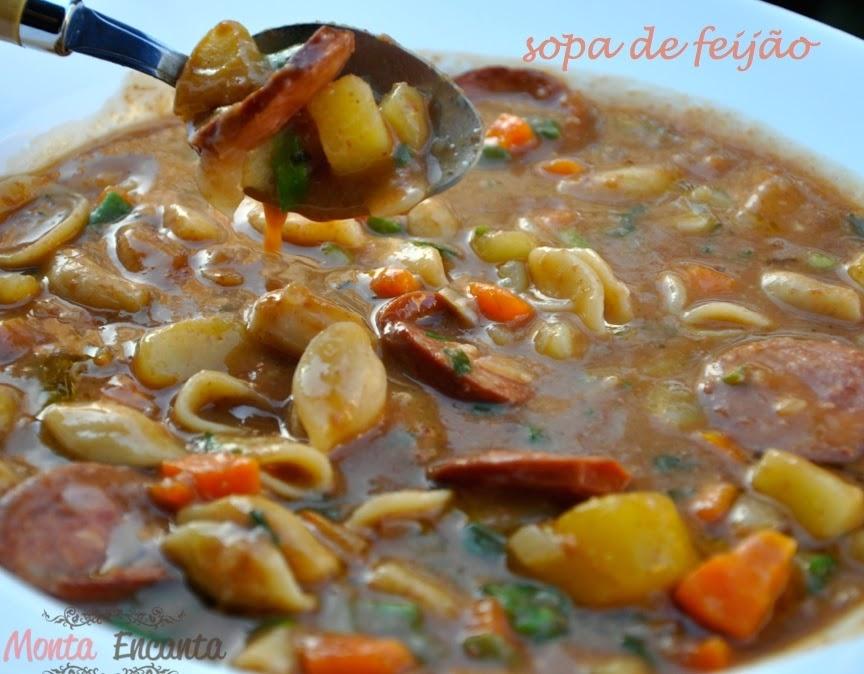 sopa minestrone feijao