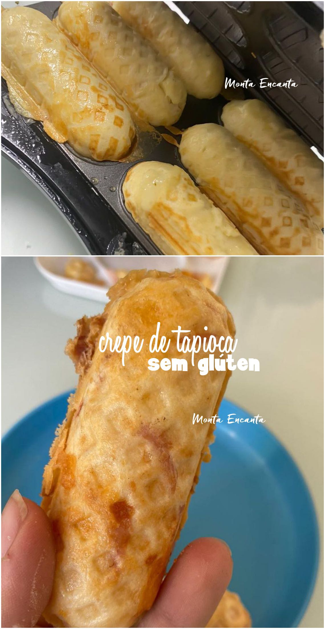 crepe de tapioca sem glúten e recheado