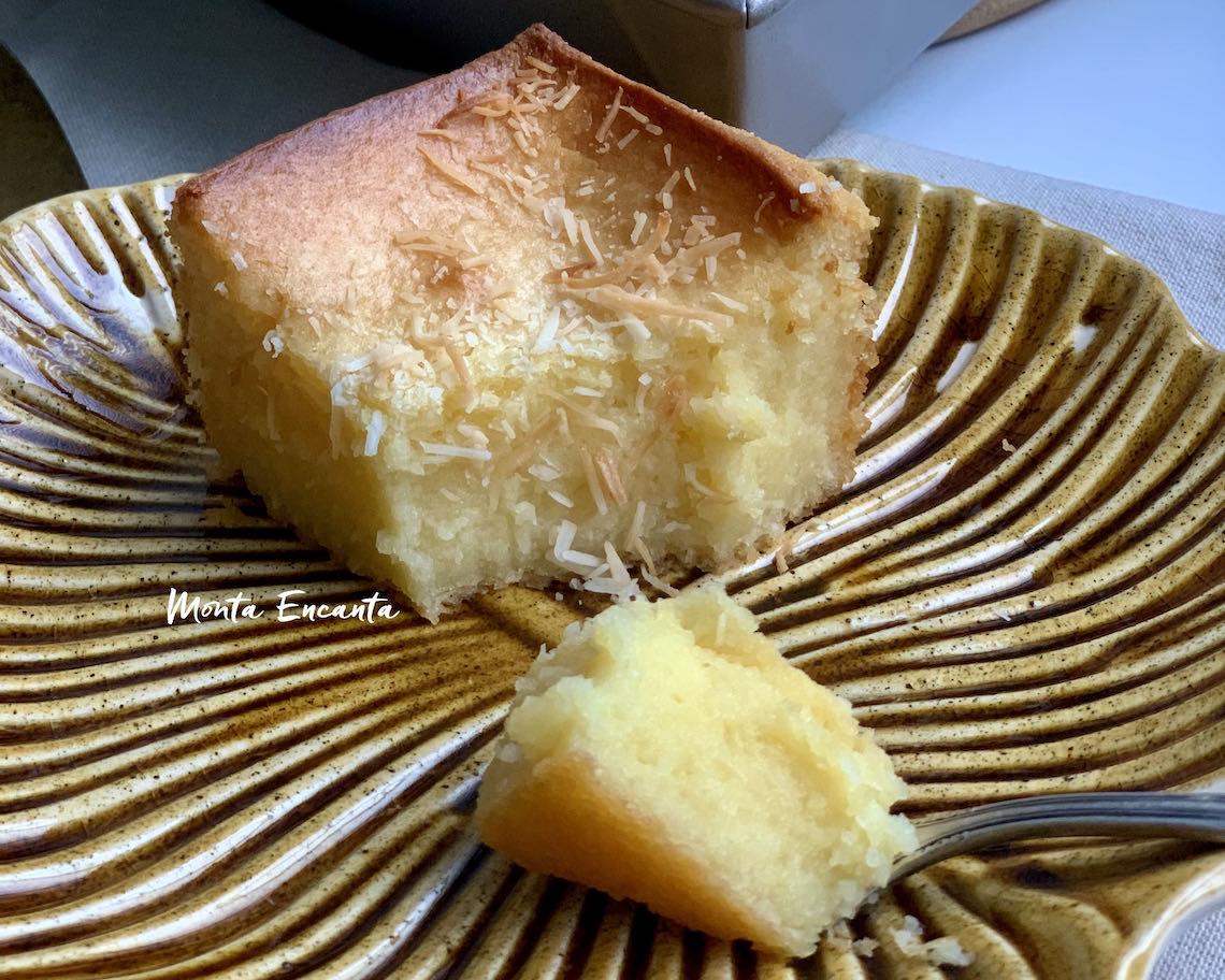 bolo de mandioca com leite condensado