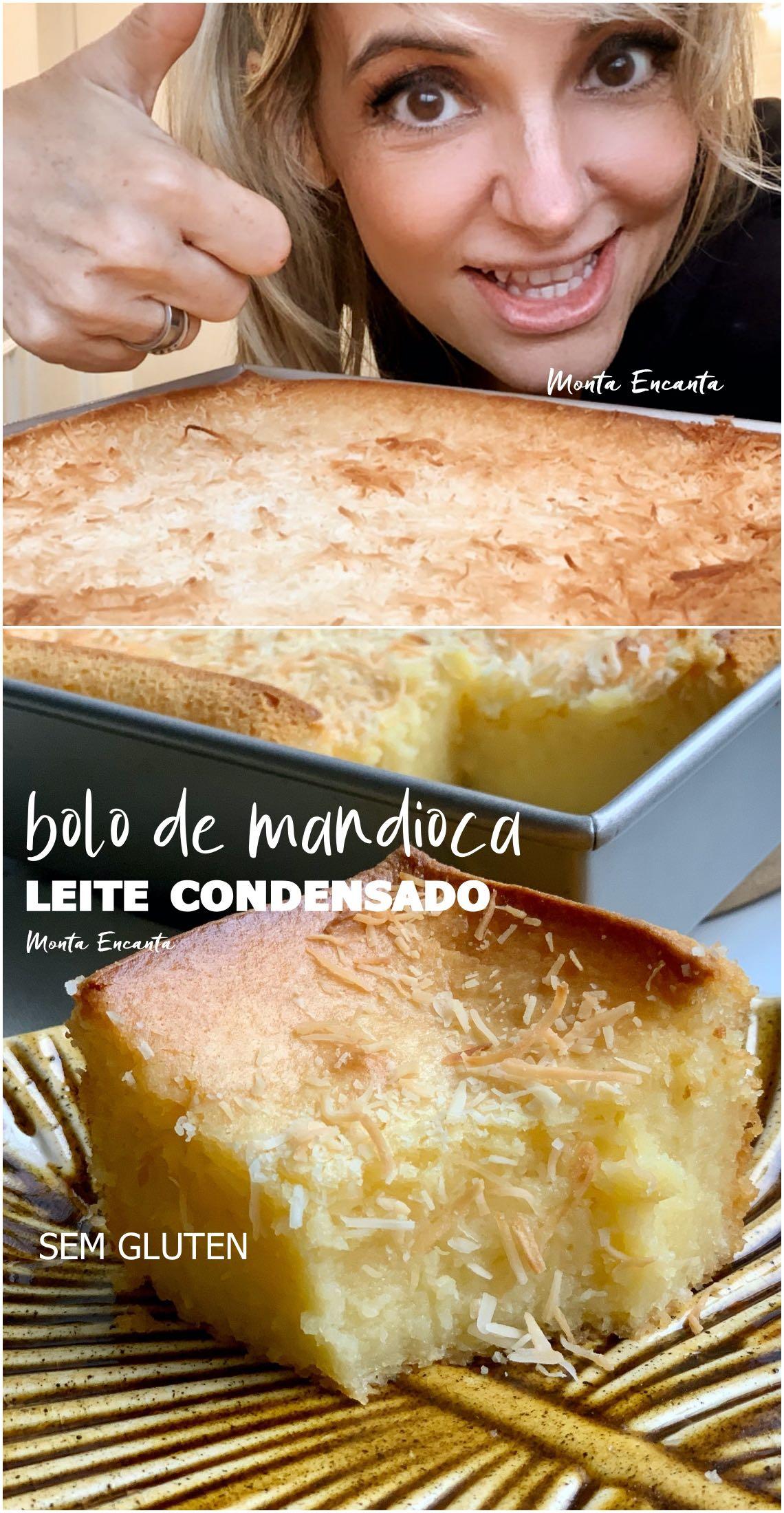 bolo de mandioca com leite condensado, sem gluten e bolo de liquidificador